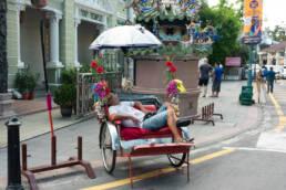 Resting Rickshaw Driver